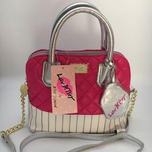 New $68 Betsey Johnson satchel fushia lbdena